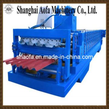 Máquina formadora de rollos de placa de techo de doble capa (AF-D1050)
