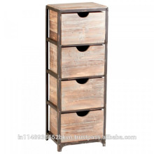 Vintage look 4 Drawer Wooden Cabinet