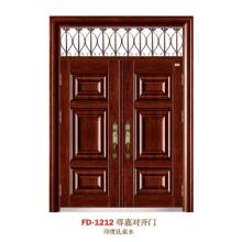 China Puerta de entrada del proveedor de puerta de acero Puerta de puerta de metal del hierro (FD-1212)