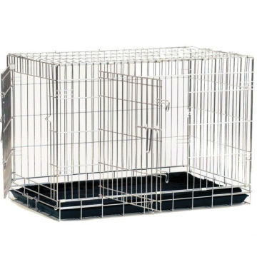 High Quality Double Door Folding Steel Pet Crate