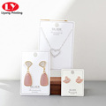 custom printed paper jewelry tags necklace cards label