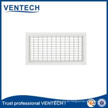 Sistema de HVAC de aluminio montado en la pared de suministro de aire difusor