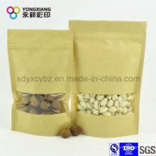 Laminated Paper Steh auf Beutel für Nuts mit Clear Window