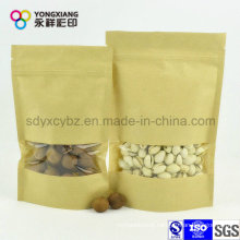 Laminated Paper Stand up Pouch for Nuts with Clear Window