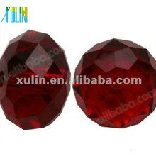 Chinesische Kristallglasperlen 5040 # Facettierte Rondelle 10mm RUBY AB