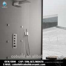 Bürste verdeckt Thermostat-Duschset mit Funktionen