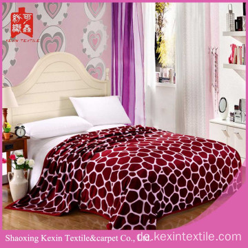 King-Size-Flanell-Fleecedecke aus 100% Polyester