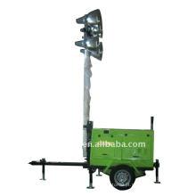 Torre de luz do gerador diesel
