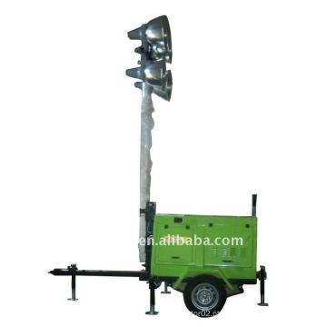 Torre de luz de energia do gerador