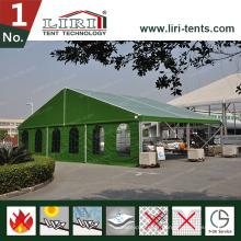 Structure de structure en tôle modulaire en aluminium Hangar militaire avec tissu en PVC vert