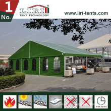 Military Hangar Aluminum Modular Tent Structure Design with Green PVC Fabric