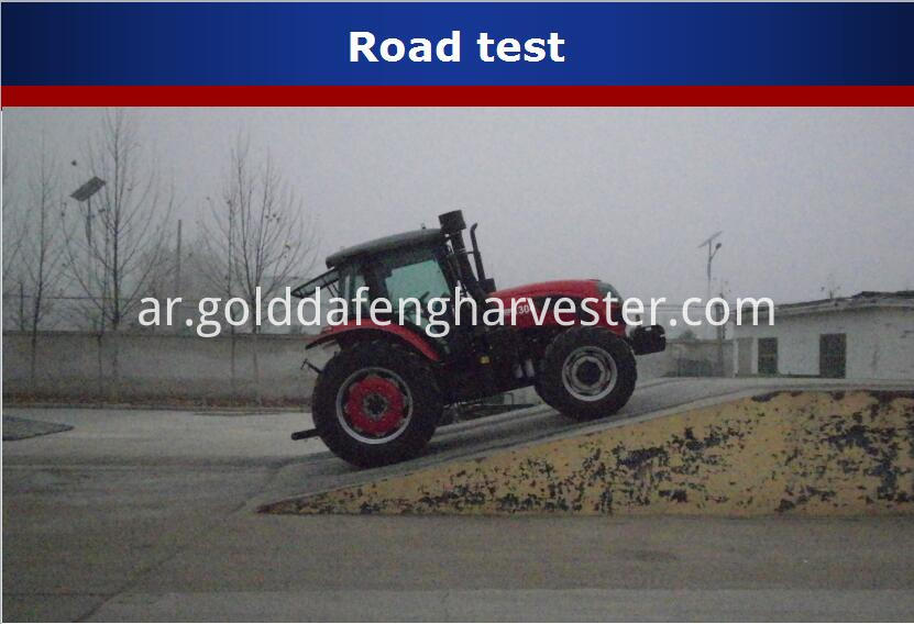 130HP wheeled tractor--Road test for 130hp