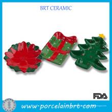 Prato de doces de cerâmica de decoração de Natal de produto novo