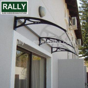 Economic Outdoor DIY polycarbonate door awning canopy shade solid balcony awnings
