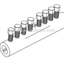 coupleur mécanique de couplage de verrou de barre d'accouplement de rebar pour la construction et le bâtiment