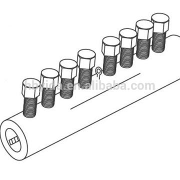 acoplamiento mecánico de la barra de empalme acoplador de barras de refuerzo para la construcción y la construcción