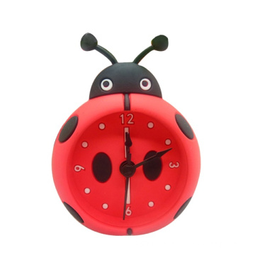 Silicone Table Desk Alarm Clock Custom Design Cute Quartz Analog Household for Time Reminding External Power Supply Electronic