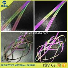 High Visibility Gute Qualität Silber Elastische Reflektierende Paspel Cord für Sportbekleidung