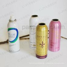 Lata de espray de aluminio para el empaquetado del aerosol del cuidado de la piel (PPCC-AAC-022)