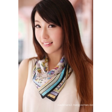 Silk & Polyester Square Scarf (12-BR050320-6.2)