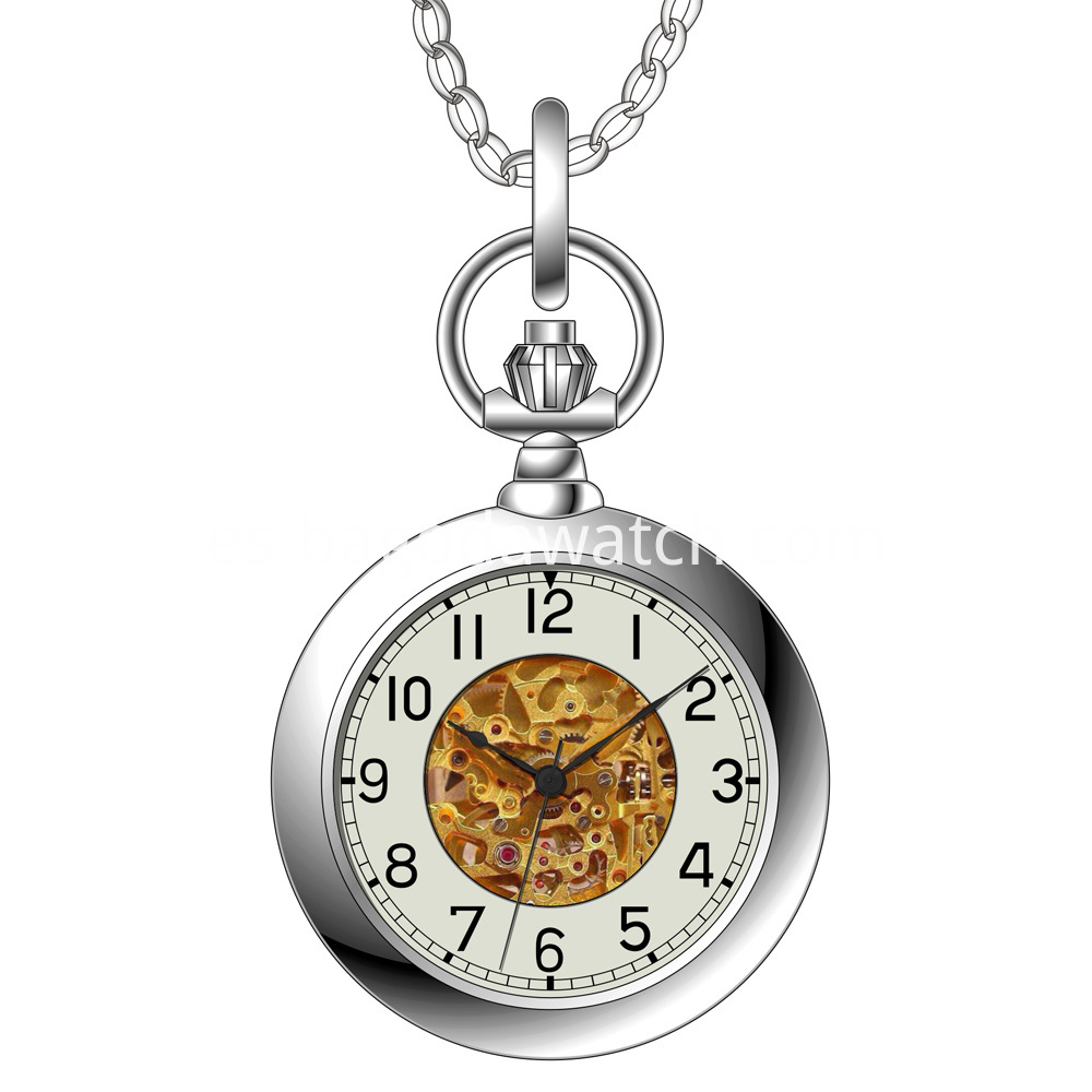 Silver automatic pocket watches