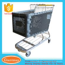 Mercearia com rodas de alça carrinho de carrinho de plástico