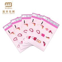Umweltfreundliches starkes kundenspezifisches persönliches Logo-Entwurfs-Rosa farbige gedruckte Plastikumschlag-Polymailer-Taschen