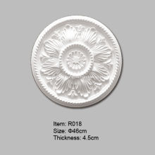 Runde Polyurethan-Deckenrose