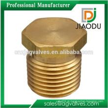 Bronze Latão npt Fio Hexagonal Fechar Mamilo
