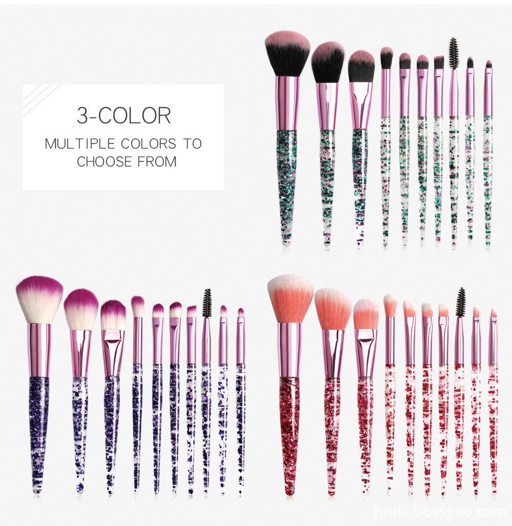 Crystal Rhinestone Makeup Brushes Set 5