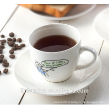 KC-03000 théière décorative avec soucoupe, belle tasse à café