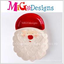 Nouveau plat de dîner et plat en céramique de Noël de conception créative de Noël