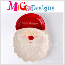 Creative New Design Christmas Santa Ceramic Dinner Dish and Plate