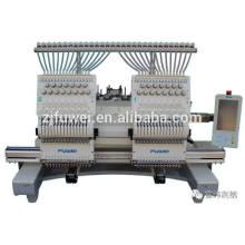 FUWEI High Speed 2 Köpfe computergesteuerte Stickmaschine Preis in China