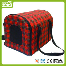 Red and Black Lattice Pet Carrier