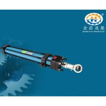 Schwerer Hydraulikzylinder im mechanischen Gerät