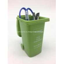 Рекламный пластиковый держатель для ручек в форме бункера