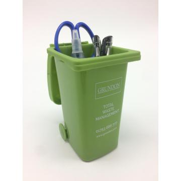 Promotional Plastic Pen Holder W/Bin shaped