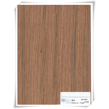 chapa de madera de teca para la construcción / decoración / muebles