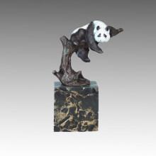 Статуэтка животных Panda Climbing Tree Бронзовая скульптура Tpal-302