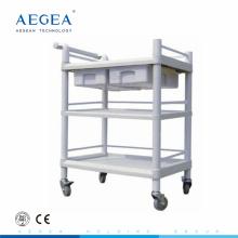 AG-UTB07 preiswerter Plastikkrankenhaus medizinischer mobiler Gebrauchswarenkorb mit Rädern