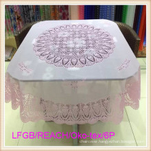 Vinyl PVC Crochet Lace Tablecloth Ready Made