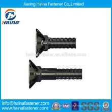 China fornecedor DIN608 aço inoxidável Dacromet / HDG / zinco banhado contador afundado pescoço quadrado parafuso / carro parafuso