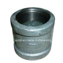 Acoplamento de montagem de tubulações de ferro maleável galvanizado com nervuras