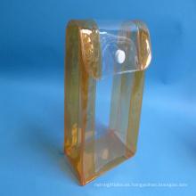 Bolso modificado para requisitos particulares del caramelo de la bolsa de asas de la jalea del Pvc de la impresión de la aduana