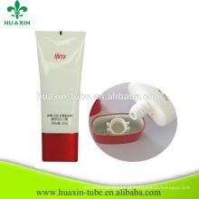 tubos flexíveis de plástico de tubo branco super oval de brilho