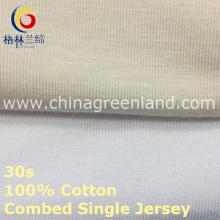 Single Jerseycotton Combed Knitting Fabric for Garment T-Shirt (GLLML418)