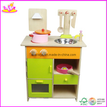 Wooden Educational Role Play Toy Kitchen for Age 3-8 (W10C055)