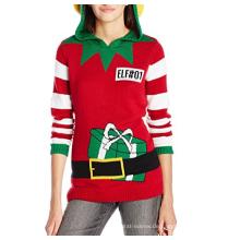PK1870HX Hässlicher Weihnachtsstrickjacken-ELF Hoodie-Pullover