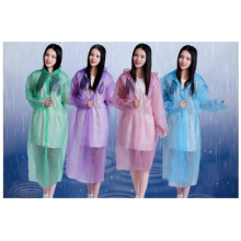 Adult Disposable Raincoat Thickening Snaps Poncho Cycling Tour Portable Poncho